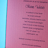 Claire: Flat printed folder with die-cut