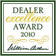 William Arthur Dealer Excellence Award 2010