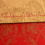 Atiya and Joseph: Indian inspired collection two color letterpress on chipboard stock