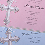 Imprintable Communion invitations
