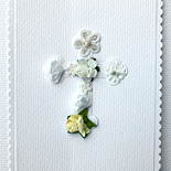 Communion invitation, 3 dimensional floral card