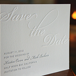 Kristen and Mark: blind and silver letterpress save the date