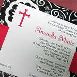 Amanda: First Holy Communion invitation