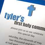 Tyler: large square Communion card with shimmer layers