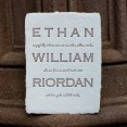 Ethan: birth announcement letterpress printed on handmade paper
