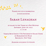 Sarah: Bat Mitzvah invitation, Gramercy Park suite from PostScript Brooklyn digitally printed