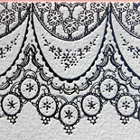 Jennifer and Christopher: lace design, foil stamped with hand calligraphy