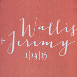 Wallis and Jeremy: digitally printed save the date