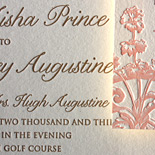 Tahira and Ian: 2 color letterpress invitation