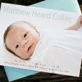 Matthew: digitally printed birth announcement with photo