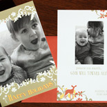 Alexis and family: The Ramble 2 sided holiday card from PostScript Brooklyn