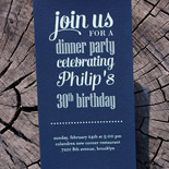 Philip: 30th birthday party invitation