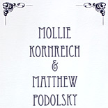 Mollie and Matthew: digitally printed program with art deco style type