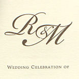 Ronit and Michael: letterpress wedding program