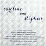 Caroline and Stephen: a textured pattern makes this invitation so striking