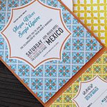 Megan and Sergio: the patterns and colors of Mexico infuse this invitation with a festive flair