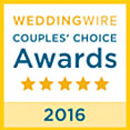 Wedding Wire 2016 Couples' Choice Award
