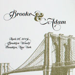 Brooke and Adam: favor tags, place cards and wedding program based on the Vinegar Hill and Washington Square suites from PostScript Brooklyn