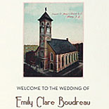 Emily and Nicholas: tri-fold wedding program