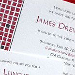 James: letterpressed Bar Mitzvah invitation