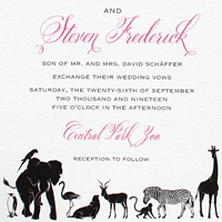 Central Park Zoo: wedding invitations exclusively from PostScript Brooklyn