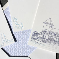 Gramercy Park: wedding invitations exclusively from PostScript Brooklyn