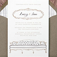 Essex House: wedding invitations exclusively from PostScript Brooklyn