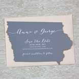 Anna and George - A die cut save the date you won't forget