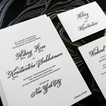 Hilary and Konstantine - An absolutely elegant black and white invitation suite