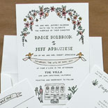 Paige and Jeff - We love working with Printerette Press to create amazing custom invitations
