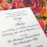 Vicky and Phillip - Hand Calligraphy meets gorgeous watercolor